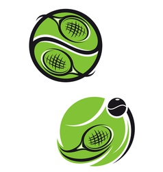tennis emblems vector image
