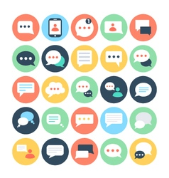 Text Messaging Flat Icons 2 vector