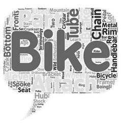 The Anatomy Of A Mountain Bike text background vector image