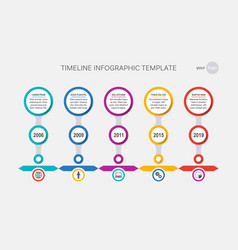timeline template history of your company vector image