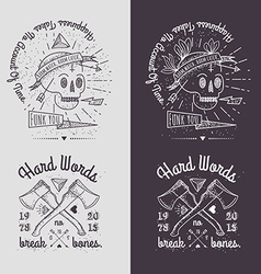 Trendy retro vintage insignias - badges set vector