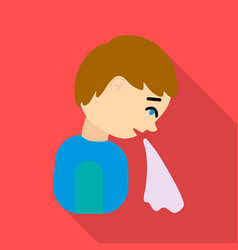 vomiting icon flate single sick icon from the big vector image