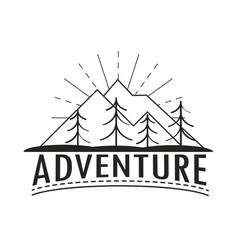 Wanderlust adventure retro vector