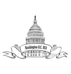 Washington dc usa travel sign vector