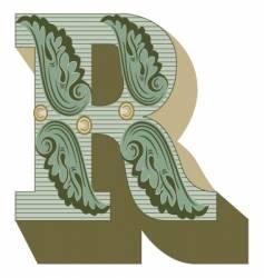 western letter r vector image