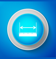 white the measuring height and length icon vector image