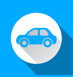 car icon on the blue background vector image