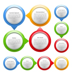 Colorful Cirles for Text vector image vector image