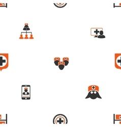 Doctor Seamless Flat Wallpaper vector image vector image