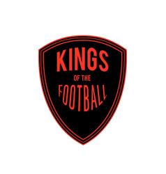 kings of the football badge logo design ima vector image