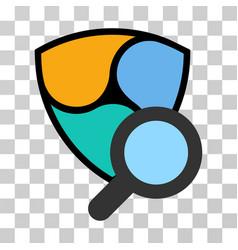 Nem search tool icon vector