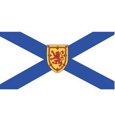 nova scotia flag vector image
