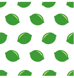 seamless pattern with limes fresh limes vector image