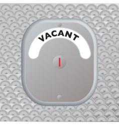 secure door vacant vector image vector image