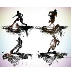 sportsmen vector image