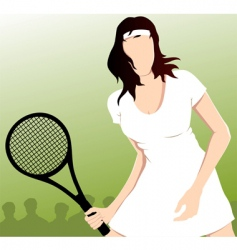 tennis playing vector image vector image
