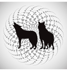 Animal design wolf icon Silhouette vector image vector image
