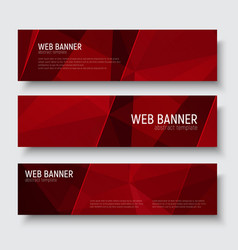 banner polygon template 01-06 vector image vector image