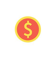 coin icon vector image vector image
