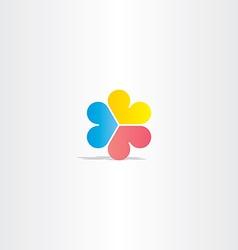 colorful logo heart circle love sign vector image vector image