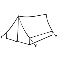 tourist tent for travel and camping vector image vector image