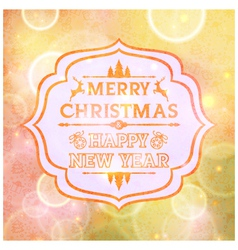 Abstract card with the words Merry Christmas vector image vector image