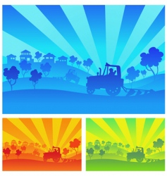 agricultural machinery vector image
