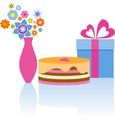 Birthday presents vector