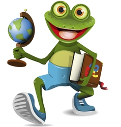 frog student vector image
