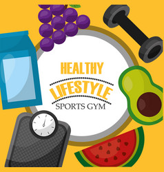 Healthy lifestyle sport food vector