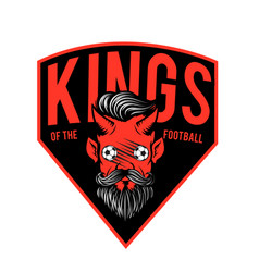 kings of the football red devil background vector image vector image