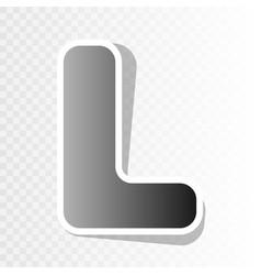 letter l sign design template element new vector image