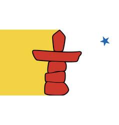 nunavut flag vector image vector image