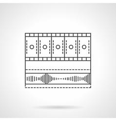 Video media bar flat line icon vector image