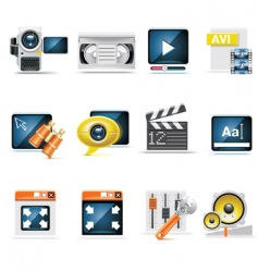 video production set vector image vector image