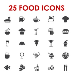 Food icons basics series vector image
