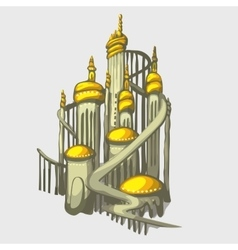 Isolated castle with Golden domes vector image