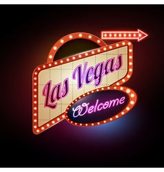 Neon sign las vegas vector