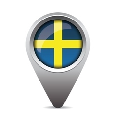 Sweden flag pointer vector image vector image