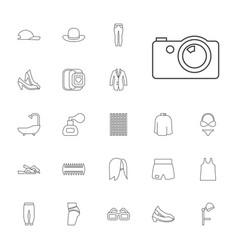 22 fashion icons vector
