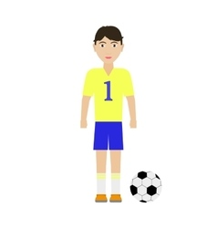 a boy soccer player vector image