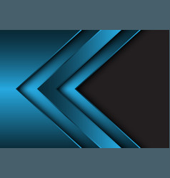 Abstract blue metallic arrow direction with grey vector