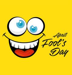 April fools day celebration card vector
