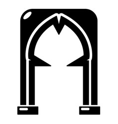 Archway villain icon simple black style vector