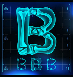 B letter capital digit roentgen x-ray vector
