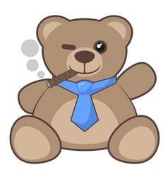 Bear smoking vector image