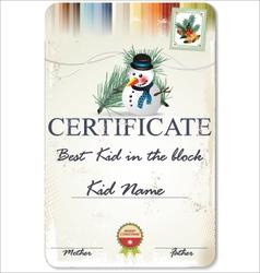 Best kid in block certificate vector
