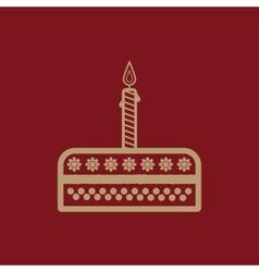 Birthday cake sign icon vector