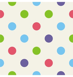 Blue pink green polka dots seamless background vector