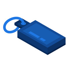 blue usb flash icon isometric style vector image